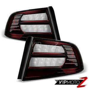 For 04-08 Acura TL Type S [Dark Smoke Red Tint] Tail Light Brake Lamp Left Right