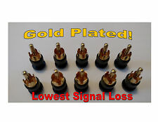 10 - RCA SHIELDED SHORTING CAPS / PLUGS - RF/EMI & NOISE CANCELING / PROTECTION