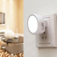 Automatic LED Night Light Plug In Energy Saving Light Dark Sensor Wall Lamp New