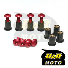 RED Windscreen screws 8pcs bolts For Kawasaki NINJA 250R 650R 500R ER 5 6 ZX 14R