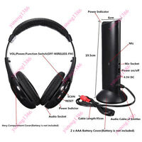 5 in 1 Wireless Headphone Over-Ear Earphone Transmitter Mic FM Radio TV PC Cool