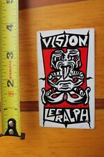Vision Skateboards Lee Ralph Pro Model Tiki Vintage 80's Skateboarding Sticker