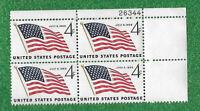 SCOTT #1132 U.S.4 CENT.  49 STAR FLAG JULY 4, 1959  PLATE BLOCK  OF 4  MNH OG VF