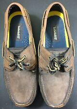 Timberland Mens Leather Boat Shoe 71024 Dark Brown Loafer Size 11.5 M