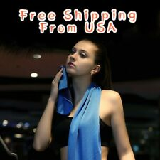 4 Pack Ice Cold Instant Cooling Towel Running Jogging Gym Chilly Pad Sports Yoga