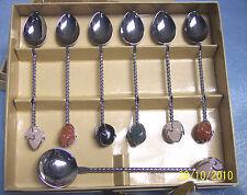 30 sets Natural stone handles Coffee, Tea & Sugar DEMITASSE CHRISTMAS gift