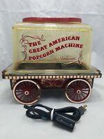 Vintage Sunbeam The Great American Popcorn Machine Maker Corn Popper Wagon
