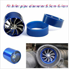 Aluminum Alloy Car Air Intake Turbonator Single Fan Turbine Turbo Gas Fuel Saver