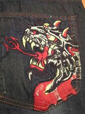 AUTHENTIC DON ED HARDY THE GODFATHER LOOSE FIT MEN JEANS SZ 44 X 34 VIC-THOR1