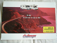 Challenger camping camping-car brochure 2000 texte allemand