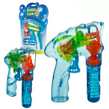 Bubble Gun Fun Light Up Flashing LED Bubble Machine Kids Outdoor Garden Toy Gift