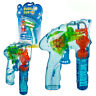 Bubble Gun Fun Light Up Flashing LED Bubble Machine Kids Outdoor Garden Toy Gift