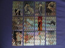 OLIVIA II ALL-PRISM TRADING CARD SET OF 72 COMIC IMAGES 1992 SEXY FEMALE ART WOW