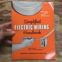 Vintage 1957 Sears Simplified Electrical Wiring Handbook Planning Guide
