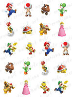 20 NAIL DECALS *  MARIO BROTHERS CHARACTER ASSORTMENT * WATER SLIDE NAIL DECALS