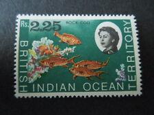 BRITISH INDIAN OCEAN TERRITORY, SCOTT # 30, 2.25r. 1968-73 MARINE FAUNA MVLH