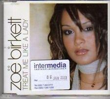 (BH502) Zoe Birkett, Treat Me Like A Lady - 2003 DJ CD