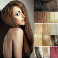 """15"""" Full Head Clip In/on Hair Extensions 100% Human Hair Remy Hair New Top Sell"""
