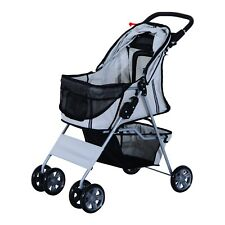 PawHut Grey Dogs Oxford Cloth Pram  - Suitable for Small Pets