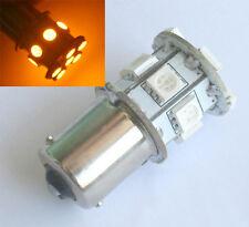2x 6V DC P21W 1156 BA15S 13 SMD 5050 LED Autolampen birne Nebellicht Gelb/Amber