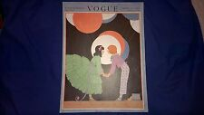 VOGUE MAGAZINE August 15 1917 FRONT COVER ONLY Helen Dryden Children's Fashions