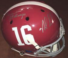 Nick Saban & Gene Stallings Signed ALABAMA Full Size Helmet w FANATICS COA PROOF