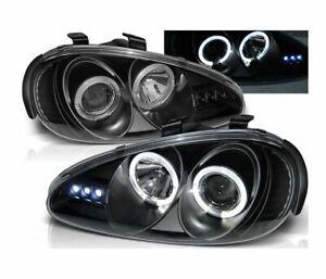 Mazda Mx3 Headlight Headlamps 1991-1998 Angel Eyes Black LHD