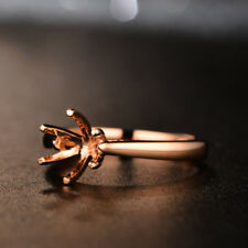 1.00ct Diamond 18K Rose Gold Over Solitaire Engagement Semi-Mount Ring Setting