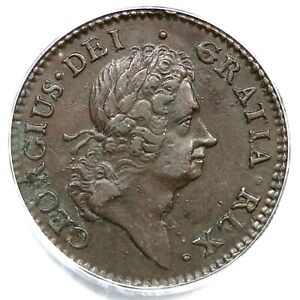 1722 PCGS XF 45 Harp Right Hibernia Halfpenny Colonial Copper Coin 1/2p