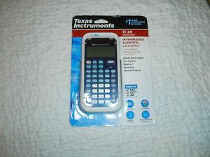 Texas Instruments TI-34 MultiView Scientific Calculator - Blue/White NIP  t3