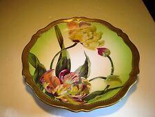 VIVID Ornate O& EG Royal Austria ORCHIDEE Marked Porcleian Plate Artist Signed