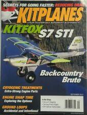 Kitplanes Sept 2017 Kitfox S7 STI Backcountry Brute Aircraft FREE SHIPPING sb
