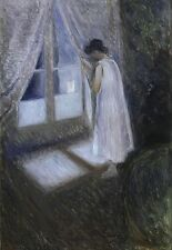 the Girl by the Window EDVARD MUNCH CANVAS ART PRINT