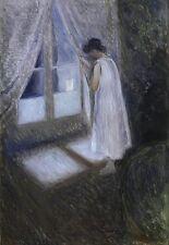 the Girl by the Window EDVARD MUNCH CANVAS ART PRINT