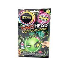 New Packs of 5 Green ILLOOM Build Your Own Dinosaur Head Light Up LED Balloons