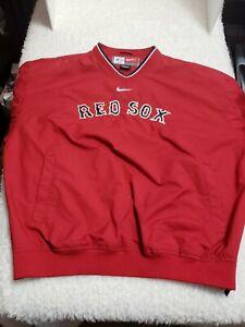 Boston Red Sox Nike Pullover Windbreaker Light Jacket Size Large MLB Vintage