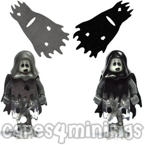 2 CUSTOM capes for your Lego Spectre Ghost Series 14 Minifig.  CAPE ONLY