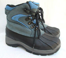 PACIFIC TRAIL..BLUE & BLACK..LEATHER..WINTER / SNOW / RAIN..BOOTS..sz 8
