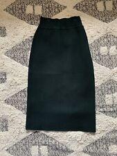 cba06a2383c4 Scanlan Theodore Green Crepe Knit Skirt Size Medium
