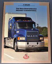 1995 Mack Truck Model CH600 Catalog Sales Brochure Excellent Original 95