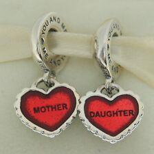 Authentic Pandora 790950EN27 Mother / Daughter Heart Mother's Day Bead Charm