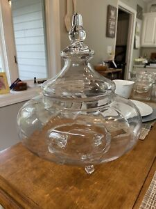 """Vintage Large Footed 16"""" Apothecary Jar Candy General Store Pharmacy Wedding"""