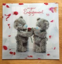 'On Your Engagement' Me To You 3D Holographic Card - Tatty Bear - 6.25x6.25""