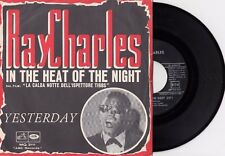 """RAY CHARLES YESTERDAY (THE BEATLES) IN THE HEAT OF THE.. 1967 RECORD ITALY 7"""" PS"""