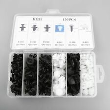 150pcs Plastic Car Door Trim Clip Bumper Rivets Screws Panel Push Fastener Kit