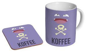 Koffing Koffee Pokemon Funny Mug + Matching Coaster