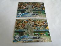 2018 TOPPS CHROME UPDATE AUSTIN MEADOWS RC HMT54 LOT X2 CARDS TAMPA BAY RAYS