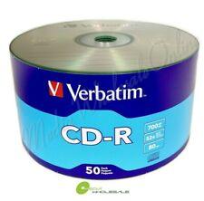 VERBATIM Blank CD-R Logo Branded 700MB/80min Media Disc / LOT = 50 TO 1800 Discs