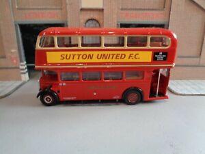 EFE 11113B LONDON TRANSPORT RTL 682 SUTTON UNITED Spec Bus on Rte 88 M/B 1/76 B1
