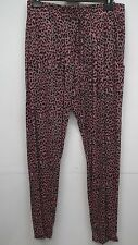 BN Damned Delux Black and Pink Animal print Trousers size XL